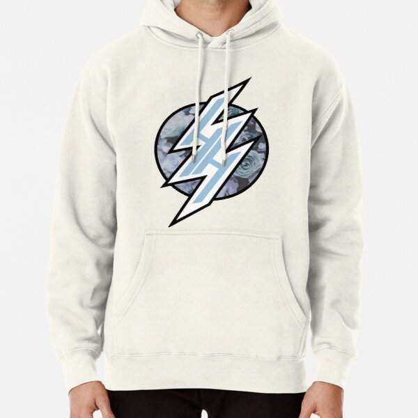 HENTAI HAVEN LIGHT BLUE PASTEL FLORAL Pullover Hoodie