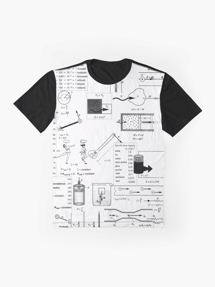 Alternate view of General Physics, #General, #Physics, #GeneralPhysics  Graphic T-Shirt