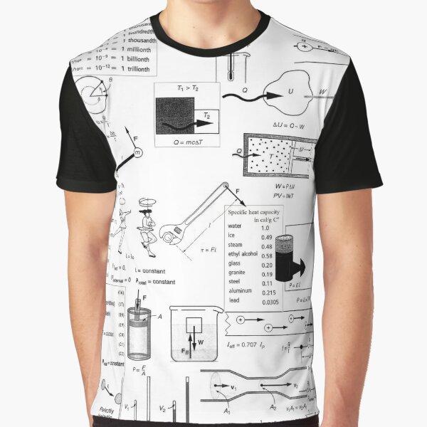 Physics Prints,  General Physics, #General, #Physics, #GeneralPhysics Graphic T-Shirt