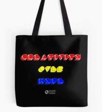 Creativity Over Hype (80s Version) Tote Bag