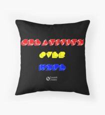 Creativity Over Hype (80s Version) Throw Pillow