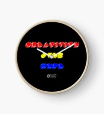 Creativity Over Hype (80s Version) Clock