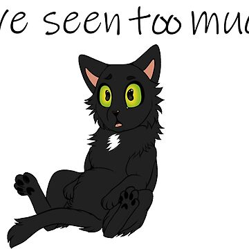 Cat that has seen too much by CaylinsDesigns