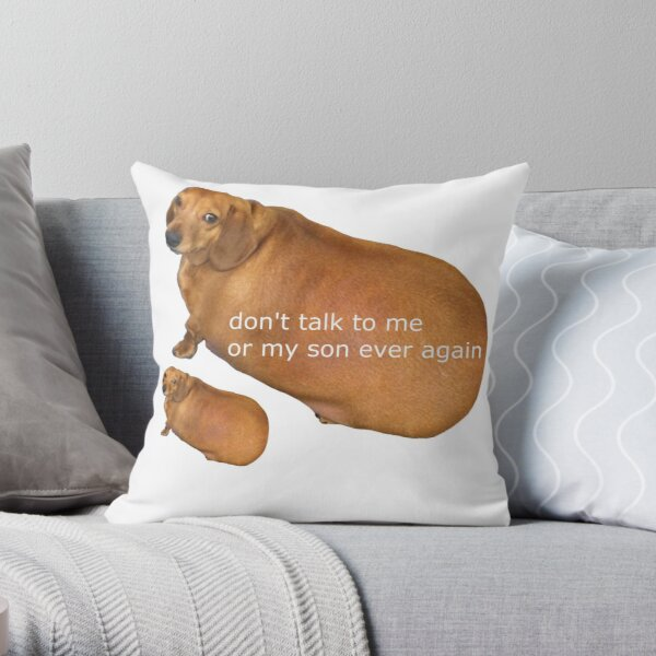 Don't talk to me or my son ever again - geek Throw Pillow