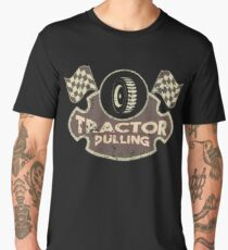 RC Tractor Pulling Toy Tractor Pulling Tire Men's Premium T-Shirt