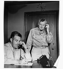 Manhattan Project - General Leslie Groves and Thomas Farrell - 1945 Poster