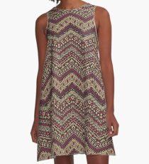 Seminole Tribal Dress 2 A-Line Dress