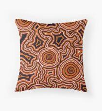 Aboriginal Art - Pathways - Authentic Design Throw Pillow