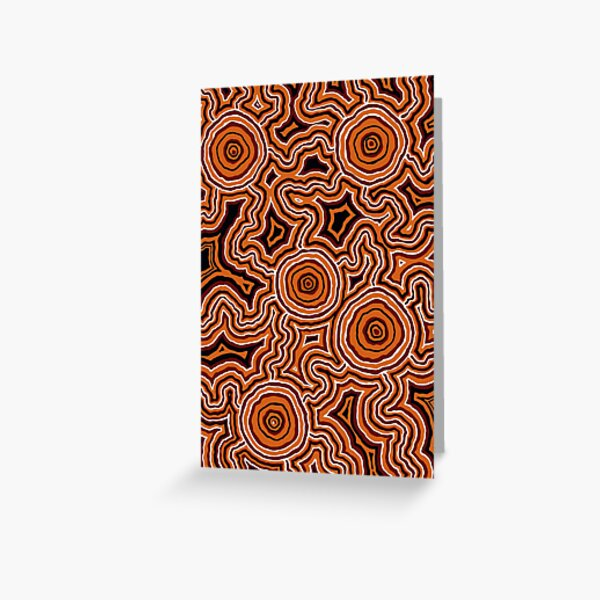 Authentic Aboriginal Art - Pathways - Authentic Design Greeting Card