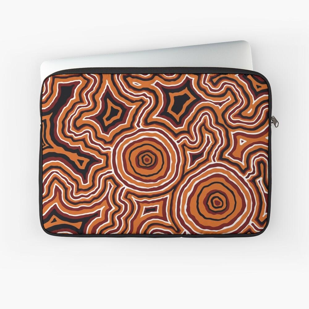 Authentic Aboriginal Art - Pathways - Authentic Design Laptop Sleeve