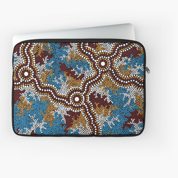 Aboriginal Art Authentic - Wetland Dreaming - 100% Authentic Direct from Artist Laptop Sleeve