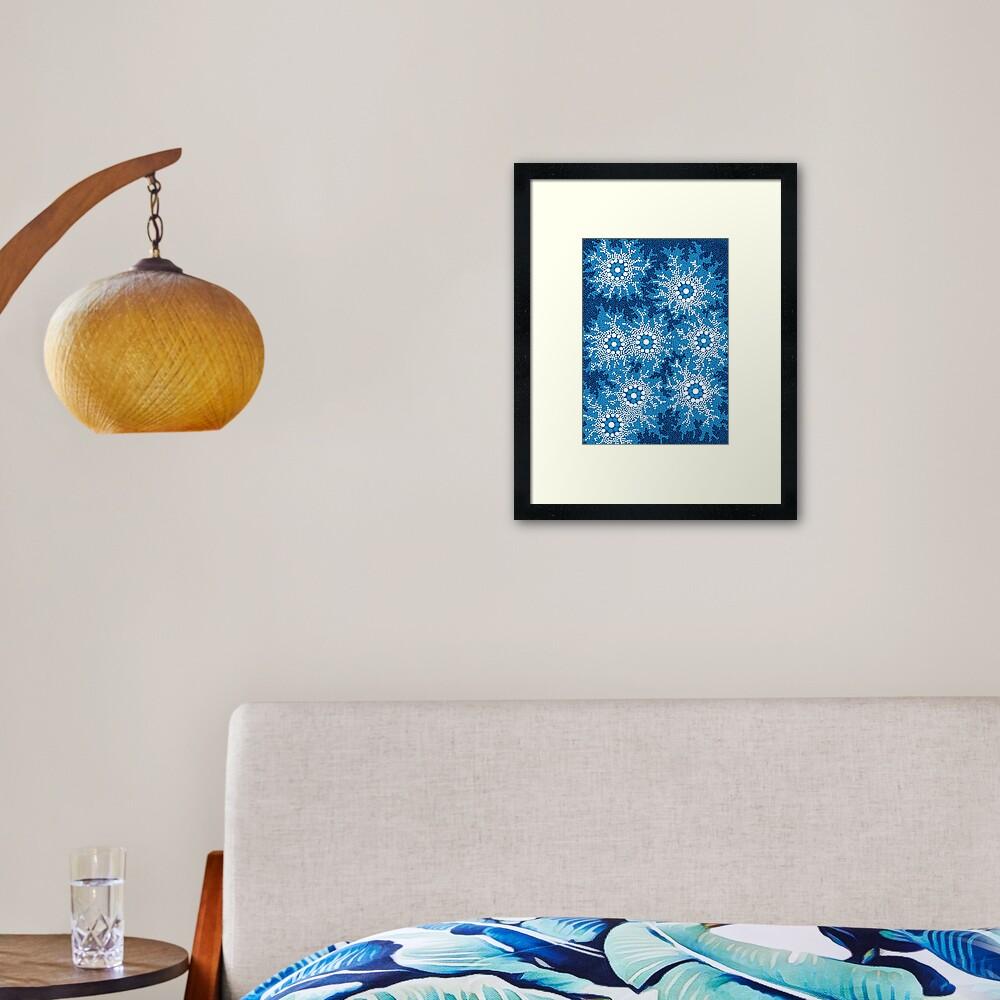 Aboriginal Art Authentic - Waterhole Dreaming Framed Art Print