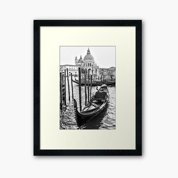 Romance Gondola Framed Art Print