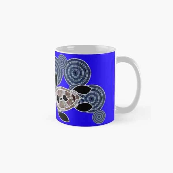 Aboriginal Art Authentic - Sea Turtles Classic Mug