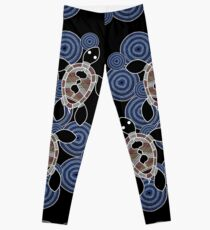 f7e8516dbf2c61 Aboriginal Art Authentic - Sea Turtles Leggings