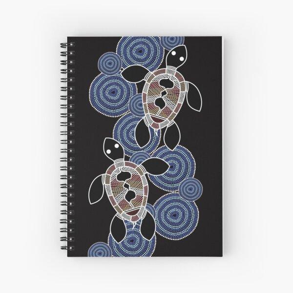 Authentic Aboriginal Art - Sea Turtles Spiral Notebook