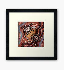 Aboriginal Art - Lizard Framed Print