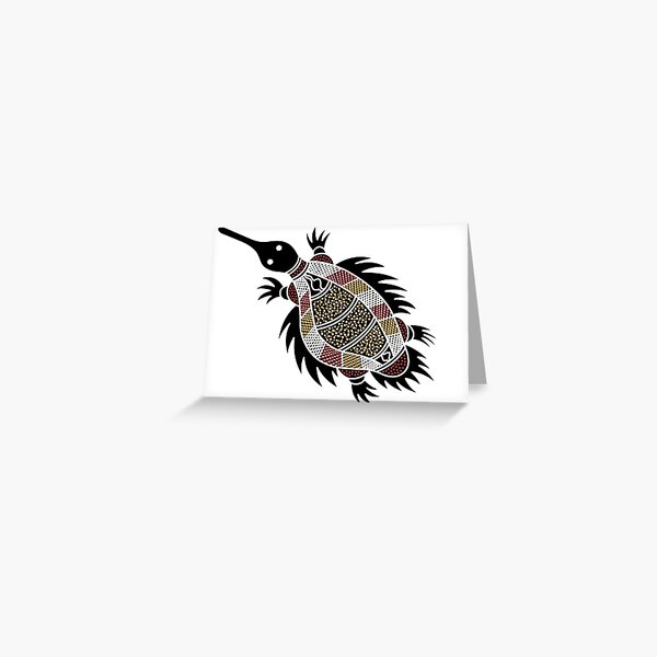 Authentic Aboriginal Art - Echidna  Greeting Card