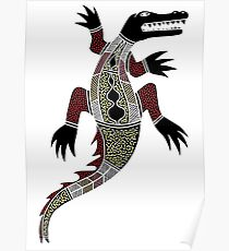 Aboriginal Art - Crocodile Poster