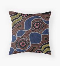 Aborigine Art - Punkte Kissen