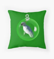 Aussi  X-mas  cockatoo Card (green ) stock up , get ready for Christmas ! Throw Pillow