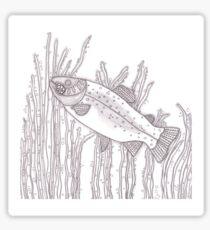 Zentangle Gewirr Fisch Wasser Muster Stift Tinte Kunstzeichnung
