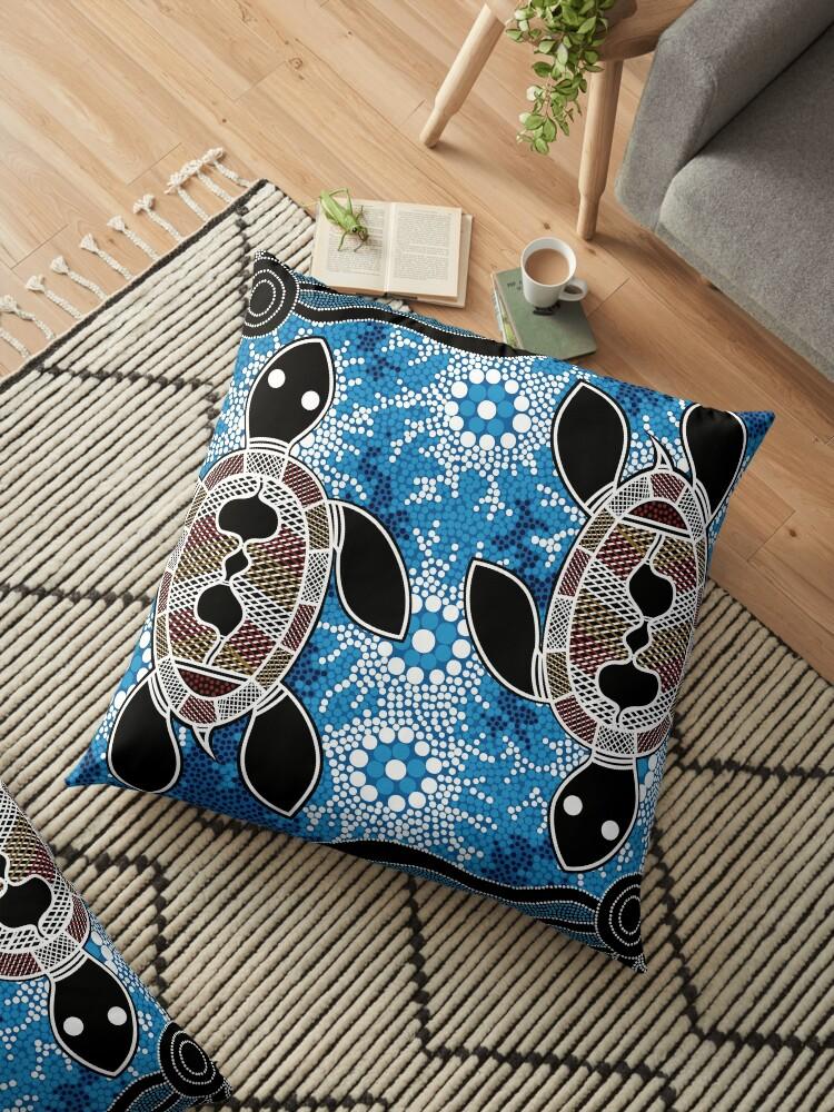 Quot Aboriginal Art Authentic Sea Turtles Quot Floor Pillows By