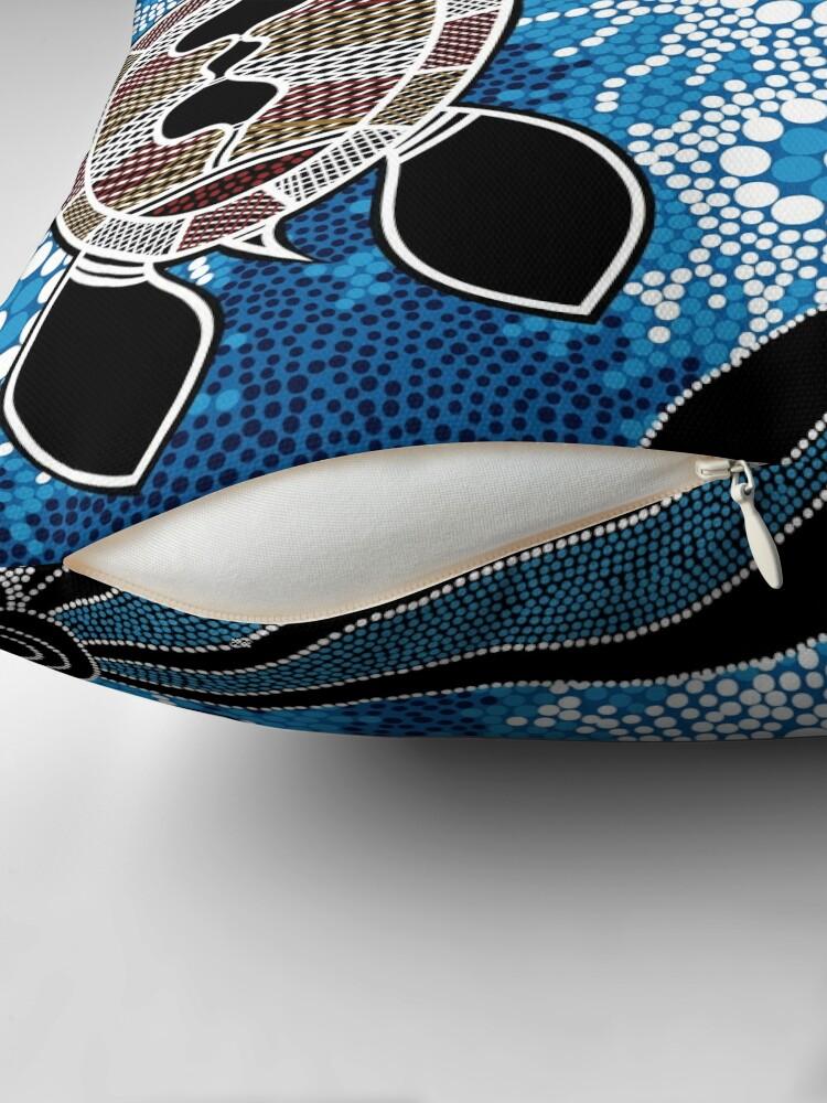 Alternate view of Authentic Aboriginal Art  - Sea Turtles Floor Pillow
