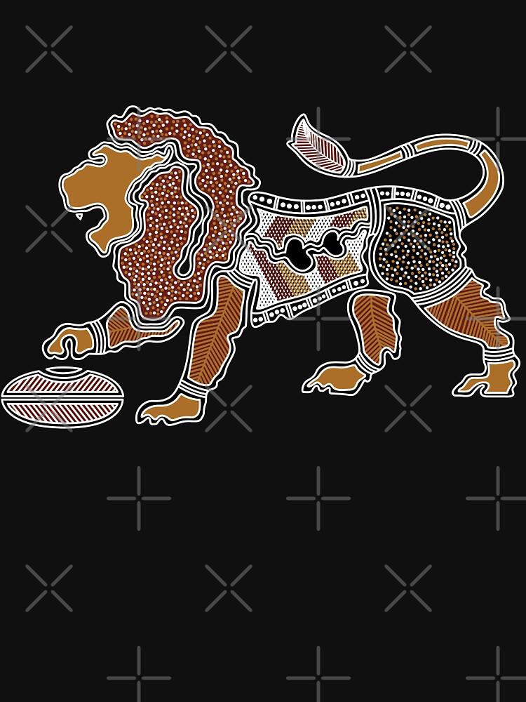 Authentic Aboriginal Art - Lion by HogarthArts