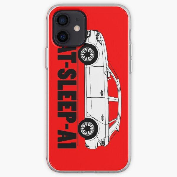 Mangez le sommeil Audi A1 Coque souple iPhone