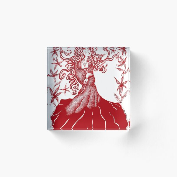 Belladonna - Red Acrylic Block