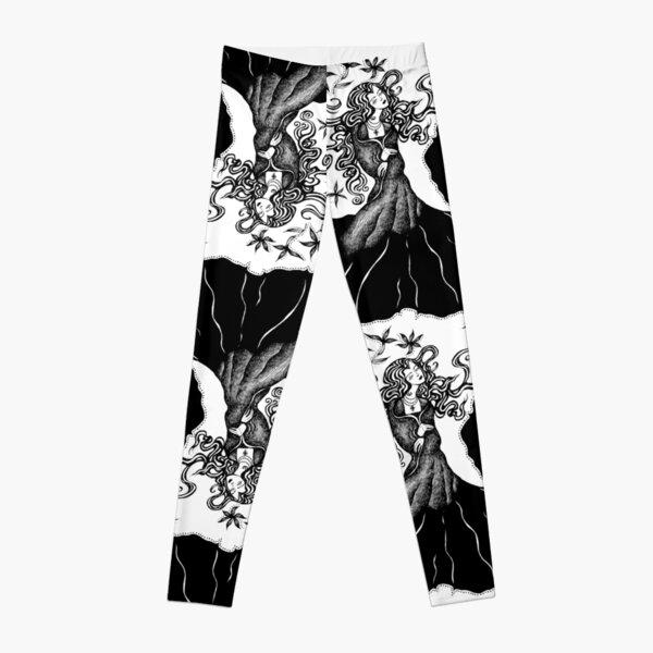Belladonna - Black - Repeat pattern Leggings