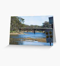 River crossings at Tocumwal ….  Greeting Card