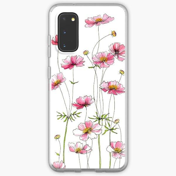 Pink Cosmos Flowers Samsung Galaxy Soft Case
