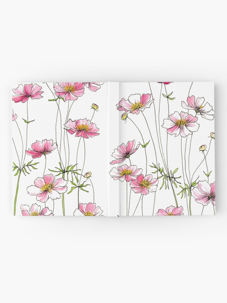 Alternate view of Pink Cosmos Flowers Hardcover Journal