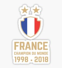 France World Cup 2018 Shirts - France World Cup Champions Shirts - FIFA World Cup Champion 2018 Products  Sticker