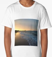 Sunset on the beach by the bay 1 Long T-Shirt