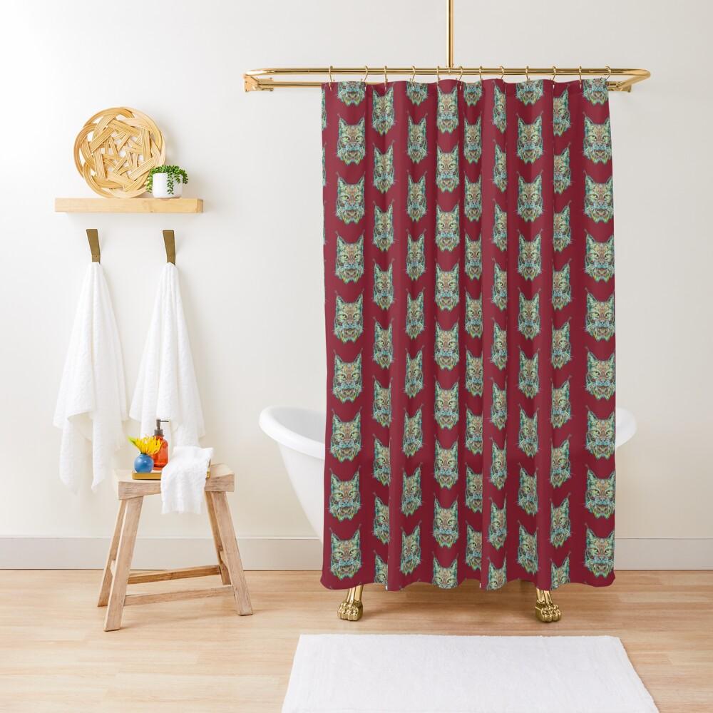 Lynx Shower Curtain