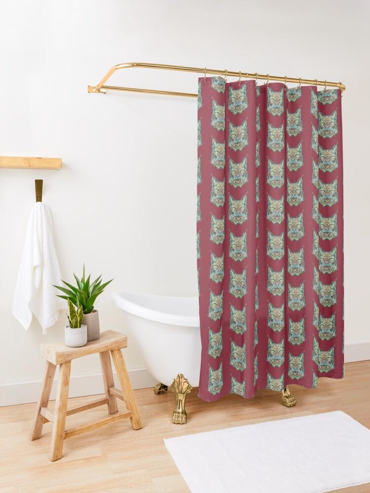 Alternate view of Lynx Shower Curtain