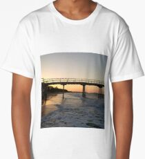 Sunset on the beach by the bay 2 Long T-Shirt