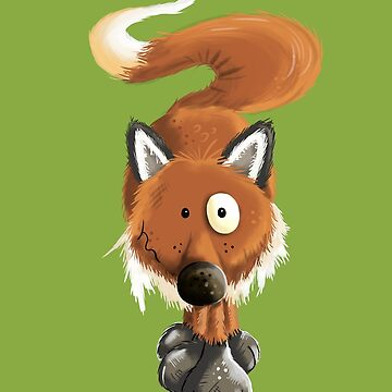 Cool Red Fox Cartoon by modartis