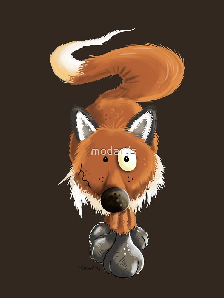 Cool Red Fox Cartoon by modartis