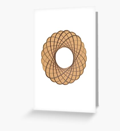 Spirograph on old paper Greeting Card