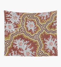 Aboriginal Art Authentic - Mountains  Wall Tapestry