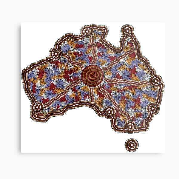 Aboriginal Australia - Authentic Aboriginal Art Metal Print