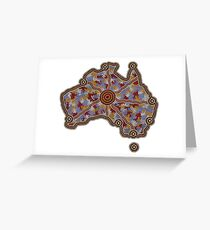 Aboriginal Australia - Authentic Aboriginal Art Greeting Card
