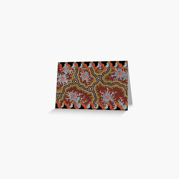 Aboriginal Art Authentic – Travels Greeting Card
