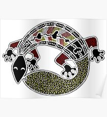 Aboriginal Art Authentic - The Gecko Poster