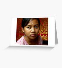 Girl in Ubud, Bali Greeting Card