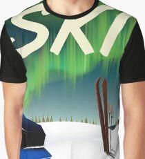 Ski Poster Graphic T-Shirt